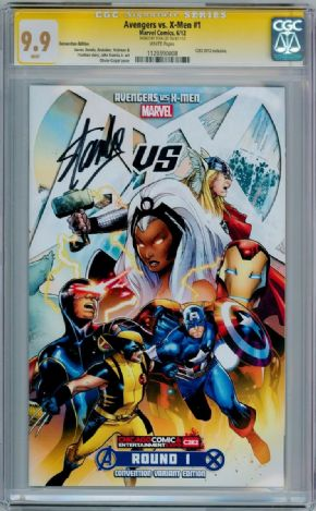 Avengers Vs. X-Men #1 C2E2 Con Variant CGC 9.9 Signature Series Signed Stan Lee Marvel comic